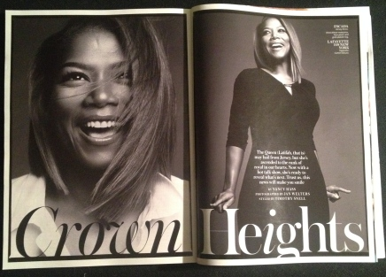 Royal Curves:  Queen Latifah + In Style Magazine